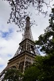Iconic Eiffel Tower. View of the beautiful iconic Eiffel tower in Paris, France Royalty Free Stock Photography