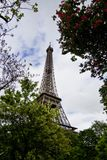 Iconic Eiffel Tower. View of the beautiful iconic Eiffel tower in Paris, France Stock Photo