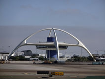Iconic Encounter Restaurant and runway at LAX Stock Images