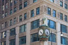 Iconic Father Time clock in Chicago Royalty Free Stock Image
