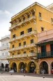 Iconic gata på Cartagena, Colombia Fotografering för Bildbyråer