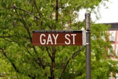 Iconic Gay Street in Greenwich Village, New York, USA Stock Photos