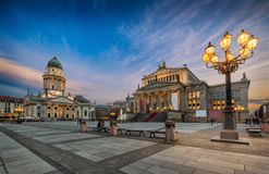 The iconic Gendarmenmarkt in Berlin, Germany royalty free stock photography
