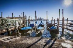 Iconic Gondolas in Venice, Italy Stock Image