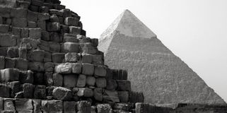 The iconic Great Pyramids of Giza, Egypt Royalty Free Stock Photo