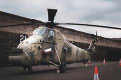 RAF Wessex helicopter - Stationed at Aldergrove now in Crumlin Road Goal Museum Belfast, Ireland, UK stock photography