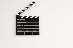 Iconic Hollywood film Clapperboard arkivfoton