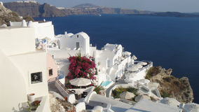 Iconic Hotels perched, Oia, Santorini Stock Photo