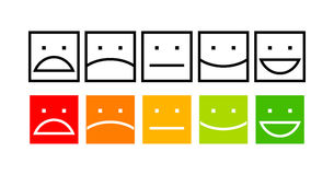 Iconic illustration of satisfaction level Stock Images