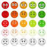 Iconic illustration of satisfaction level. Royalty Free Stock Photos