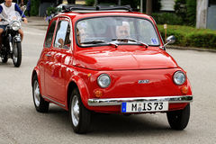 Iconic Italian Fiat 500 mini car vintage Stock Photography