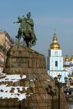 Iconic Kiev beskådar Arkivfoton