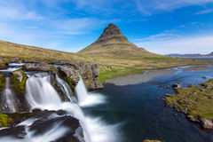 The iconic Kirkjufell in Iceland Royalty Free Stock Image
