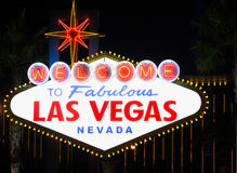Iconic Las Vegas Welcome Sign Stock Images