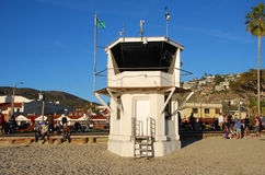 The iconic life guard tower aon the Main Beach of Laguna Beach, California. Royalty Free Stock Photography