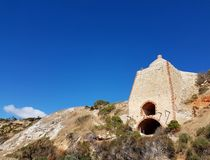 Wool Bay Lime Kiln, Yorke Peninsula. The iconic lime kiln at Wool Bay on South Australia`s Yorke Peninsula royalty free stock photos