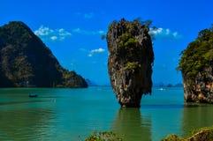 The iconic limestone formation of James Bond Island, Phuket, Thailand Royalty Free Stock Photos