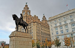 Iconic Liverpool Arkivfoton