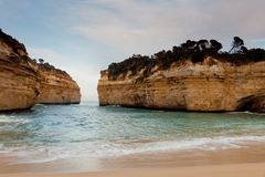The iconic Loch Ard Gorge on the Great Ocean Road Port Campbell stock image