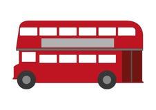 Iconic London doublde-deck bus. Stylized London bus on white background Stock Photos