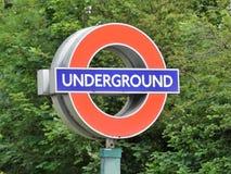 Iconic London Underground roundel sign royalty free stock image