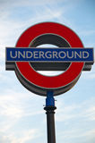 Iconic London Underground Sign Stock Images