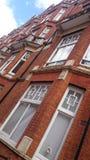 Iconic London viktorianskt herrgårdkvarter Arkivfoto