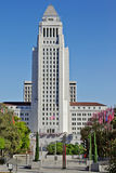 The iconic Los Angeles City Hall Royalty Free Stock Photos