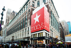 Iconic Macy`s Herald Square store front Stock Photography