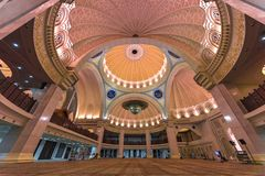 Iconic Malaysian Islamic mosque ceiling