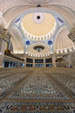 Iconic Malaysian Islamic mosque praying court Stock Photos