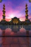 Iconic malaysisk islamisk moské Arkivfoto