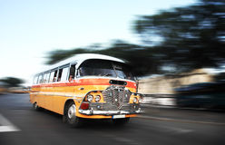 The iconic Malta bus. The iconic Malta public buses Stock Images