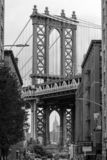 The iconic Manhattan Bridge from Dumbo in Brooklyn, New York City, USA. 