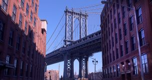 The Iconic Manhattan Bridge Viewed From Dumbo, Brooklyn. Royalty Free Stock Image