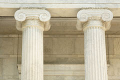 Iconic marble pillars Royalty Free Stock Photography