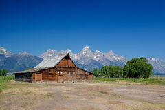 The iconic Moulton barn in Grand Teton National Park, Royalty Free Stock Image