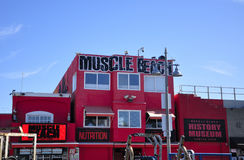 Iconic Muscle Beach Venice California stock image