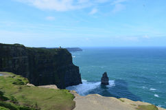 Iconic Needle Rock Formation and the Cliff`s of Moher Stock Images