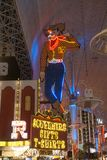 Neon Cowboy on Fremont Street royalty free stock images