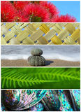 Iconic New Zealand Nature Background Photos. A collection of iconic New Zealand nature symbols for use on print, web and design projects Stock Photos
