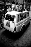 Iconic old fiat on the streets of Florence. Old fiat on the streets of Florence, italy Royalty Free Stock Photos
