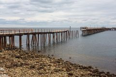 The old jetty at Rapid Bay South Australia on 15th March 2018. The iconic old jetty at Rapid Bay South Australia on 15th March 2018 Royalty Free Stock Image