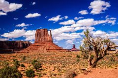 Nature`s Artistry at Monument Valley. Iconic Old West landscape at Monument Valley in the Navajo Nation Royalty Free Stock Photography