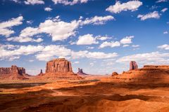 Rugged Road through Monument Valley Stock Photos