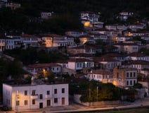 Iconic Ottoman Architecture of Berat Albania at Dusk