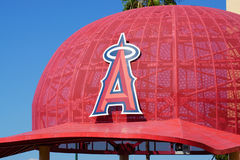Iconic Oversized Baseball Cap at Angel Stadium of Anaheim Entran Royalty Free Stock Photos