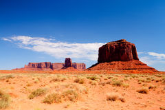Iconic peaks of rock formations in the Monument Valley Royalty Free Stock Image