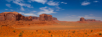 Iconic peaks of rock formations in the Navajo Park of Monument V Royalty Free Stock Photography