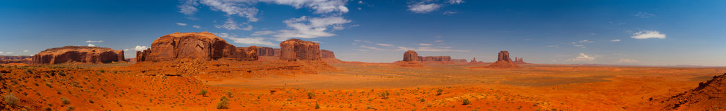 Iconic peaks of rock formations in the Navajo Park of Monument V Stock Image